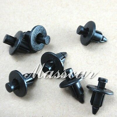 50 pcs Fastener Push Type Trim Retainer Clips GM 96057846 Toyota 90467-07041