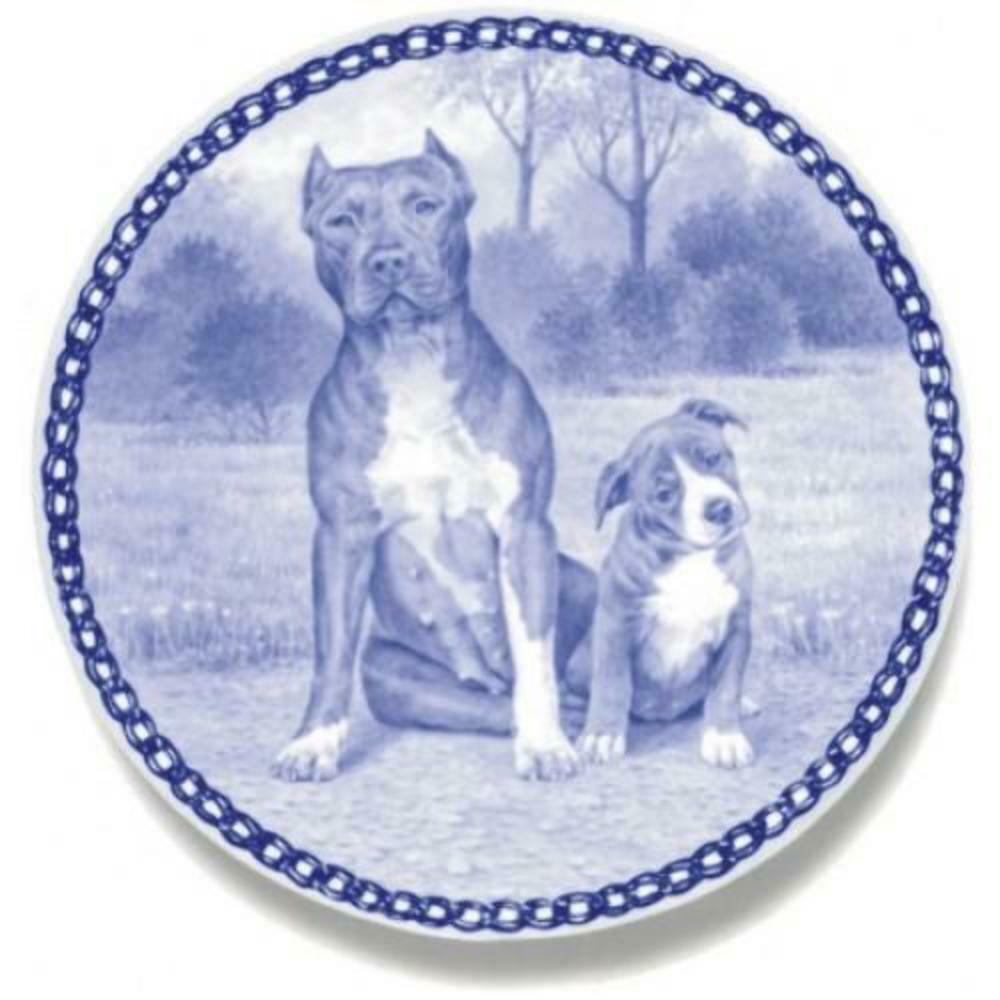 American Pit Bull Terrier  Dog Plate made in Denmark from the finest European P