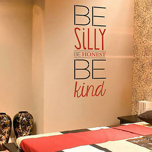 Be silly be honest be kind wall stencil quote great for Quote stencils for crafts