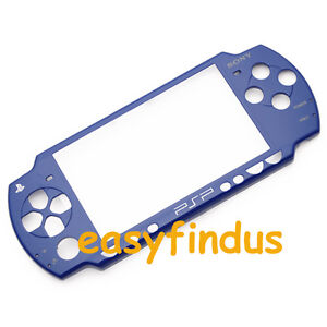 for-SONY-PSP-BLUE-FACEPLATE-FRONT-COVER-SHIELD-THEME-FOR-slim-2000-new