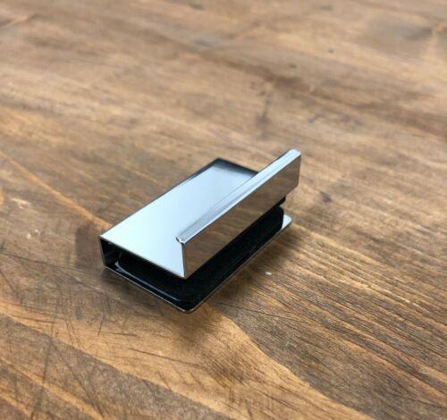 Plaque Doigt Pull Poignées pour portes en verre 4-6 mm épais chrome poli