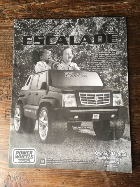 power wheels cadillac escalade ride on model 20765670 for sale online ebay 2005 power wheels cadillac escalade owner s manual model ho438