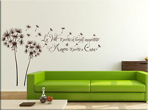 Adesivi murali soffioni frase casa decorazioni da parete for Stencil adesivi