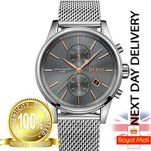 HUGO-BOSS-MENS-JET-CHRONOGRAPH-WATCH-HB1513440-GREY-DIAL-METAL-STRAP-RRP-299-00