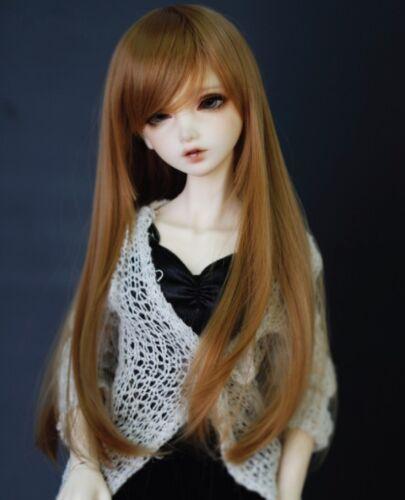 "New 1//3 Girl BJD SD DOC DOD LUT Doll Wig Long Dollfie 8-9/"" Bjd Doll Wig GA67"