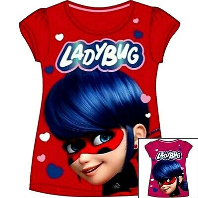 T-shirt Ladybug Strong-Willed Miraculous T Shirt Miraculous 4 à 10 Ans Coton
