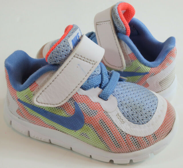 Nike Free 5.0 Baby Toddler Girls Size 5C Multicolor ...