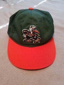 fd0c5ca04591b Image is loading Miami-Hurricanes-HAT-CAP-Embossed-Mascot-Logo-adjustable-