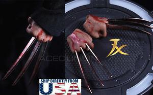 Wolverine Logan métal sanglante Claw Mains réaliste cheveux WORLDBOX JXtoys JX04A 1//6