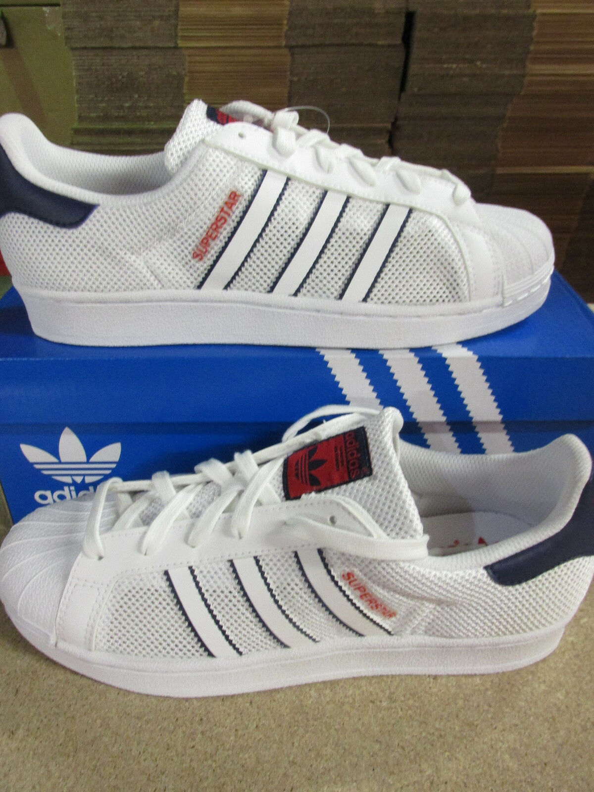 Adidas Originals Superstar zapatos hombre Trainers bb5393 zapatillas zapatos Superstar 954219