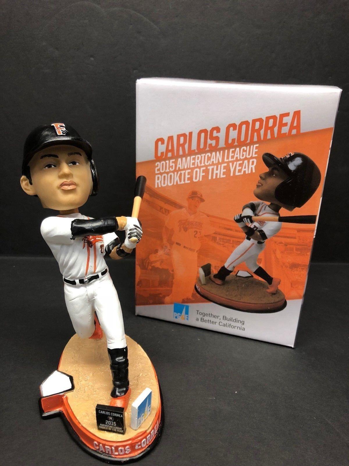 Carlos Correa 2016 SGA Baseball Bobblehead Fresno Grizzlies *Houston Astros NIB