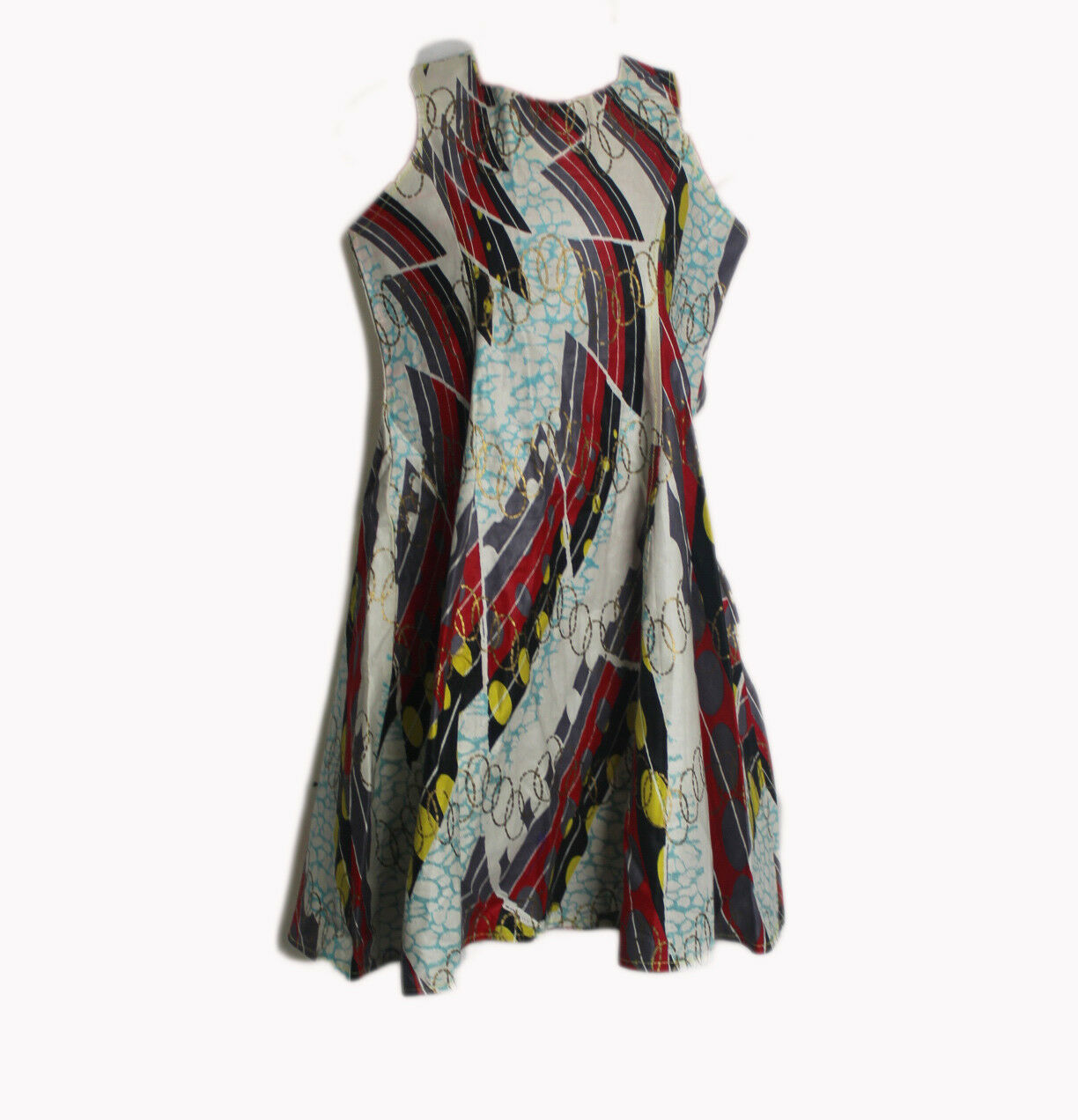 Girls Ankara Dress, African traditional clothes, 100% Woodin fabric for 5-6yrs