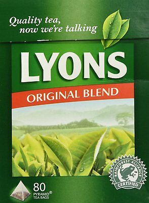 Lyons Pyramid Tea Pack of 3 80-Count Package Original Blend