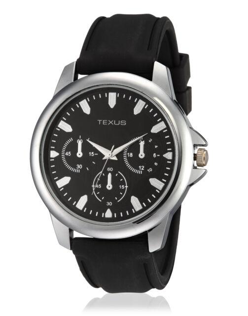 Texus(TXMW007) Black Strap Watch for Men/Boys