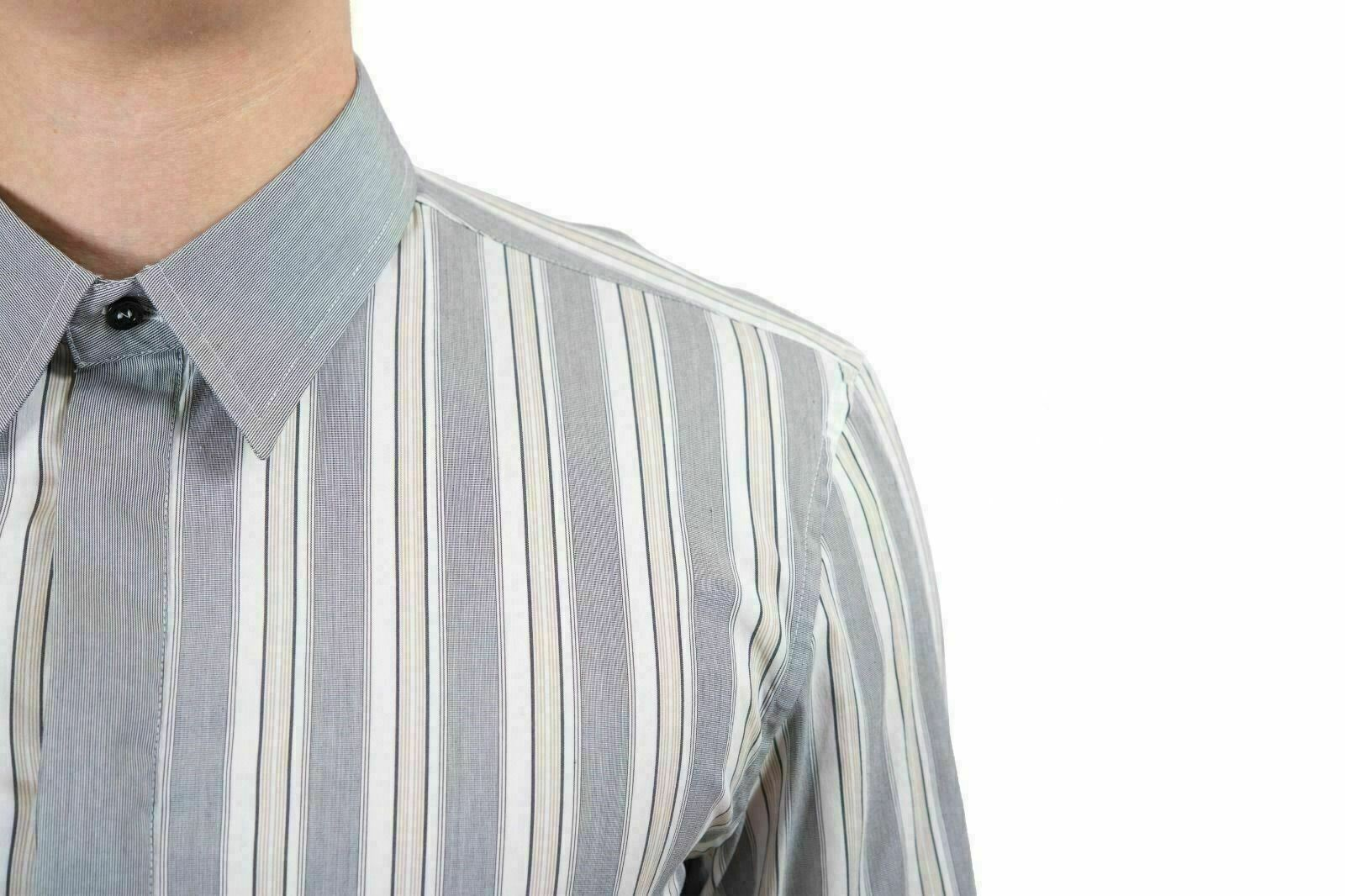 Richmond x   Multicolore a a a Righe Pulsante Anteriore Uomo CAMICIA USA S It 48 67a59e