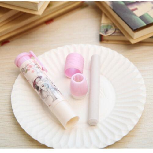 3 Colors Pen Shape Eraser Rubber Students Stationery School Home Kid Gift  KI