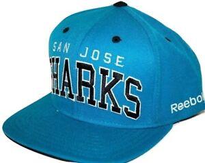 2e292099628 San Jose Sharks Reebok NF93Z NHL Team Logo Adjustable Snapback ...