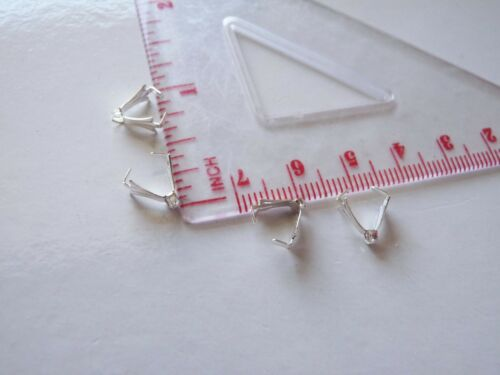 30pcs Boucles d/'oreilles Pinch Bails pour Pendentifs Perles Connecteur 10x4mm bronze//or//argent