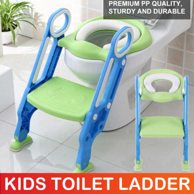 Kids Toilet Seat Ladder Toddler Potty Training Step Trainer Safety Soft Non Slip