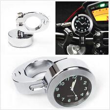 """Aluminio 7/8"""" motocicletas Handbar montaje digital reloj de calibre Cuadrante Reloj de tiempo"""