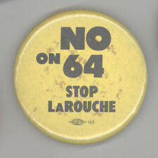 Rare 1960/'s Hubert Humphrey is a Slithy Tove Button pinback Hippie San Francisco