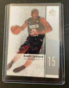 Kawhi Leonard 2011-12 Upper Deck SP Authentic #27 Rookie Card NBA LA Clippers