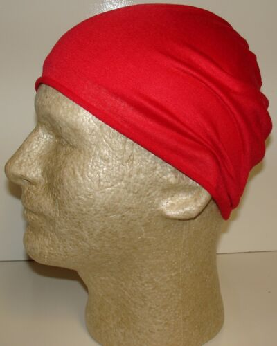 Beanie Scarf Face Mask Solid Red Tubular Multi Function Headwear 12 USES