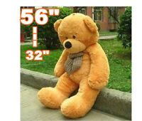 "Big Huge Giant 32""--56""Stuffed Plush Teddy Bear Toy Animal Doll light brown/gift"