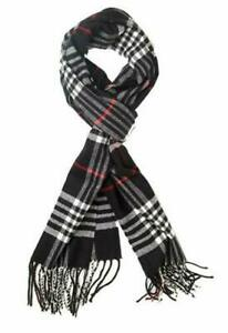 Unisex-100-CASHMERE-Scarf-Made-In-Scotland-Plaid-Design-Super-Soft-Warm-Gift
