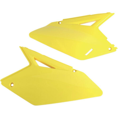 Ufo Seitenteile Seitendeckel gelb side panels Suzuki RMZ 250 07-09