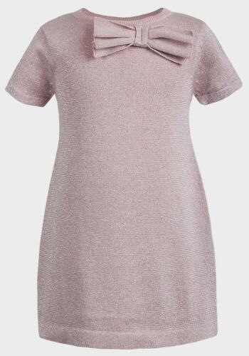 H/&M Pink Sparkle Knitted Party//Occasion Dress Ages 2-8 years Girls