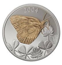 2004 Canada 50 cent Coloured Coin - Clouded Sulphur