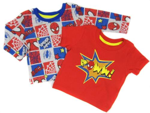 Baby Boys 2 Pack Spider-man T shirts Tops from Newborn up to 18-24 months