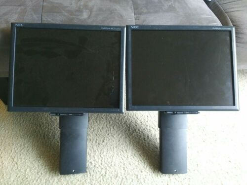 Lot of 2 NEC Monitor LCD1570NX-BK with Stand NO  Base