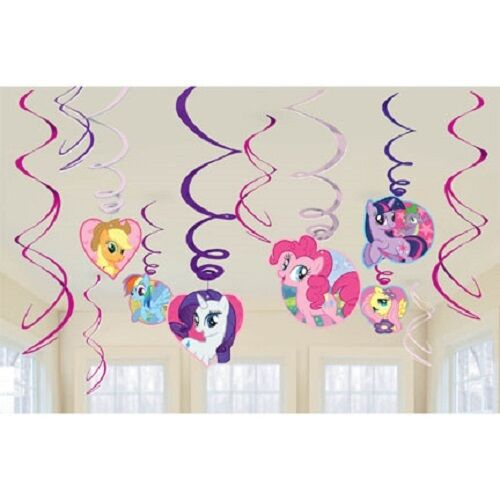My Little Pony Birthday Party Swirl Decorations Value Pack 12 Pieces