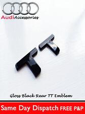 AUDI TT BLACK REAR BADGE TTRS 1.8T 225 QUATTRO MK12 2.0T SPORT COUPE FSI TDI V6