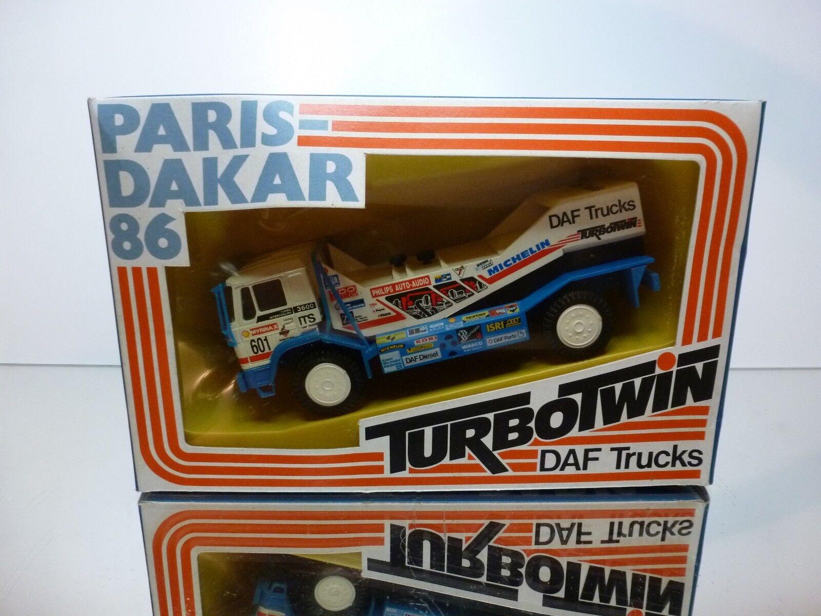 PORTEGIES DAF TURBOTWIN  PARIS DAKAR 86 - DE ROOY 1 50 - GOOD CONDITION IN BOX