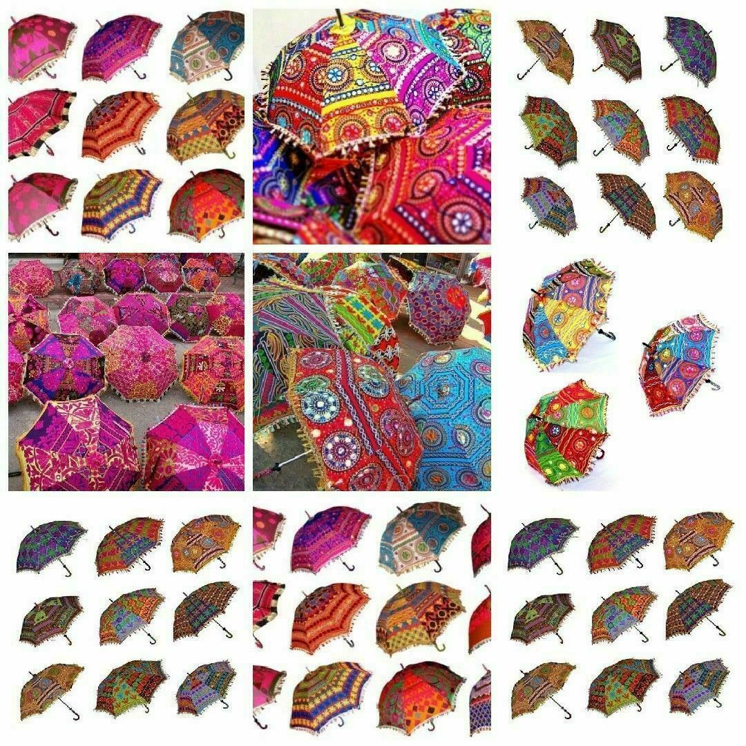 10 Pcs Lot Indian Traditional Wedding Decorative Handmade Sunshade Umbrella