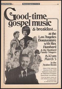 REX-HUMBARD-amp-FAMILY-SINGERS-Orig-1978-Trade-AD-promo-poster-Gospel-Music