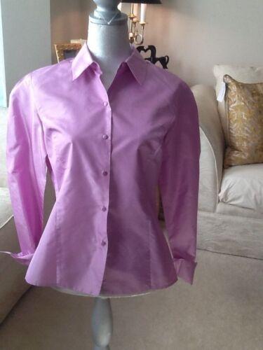 Women's Ann Taylor lavender  blouse silk blouse lo
