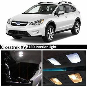 8x white led lights interior package 2013 2017 subaru xv - Subaru crosstrek interior lighting ...