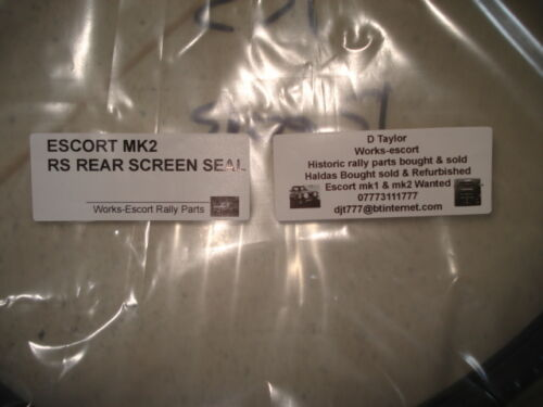 ESCORT MK2 RS REAR SCREEN SEAL solid type RS1800 MEXICO RS2000