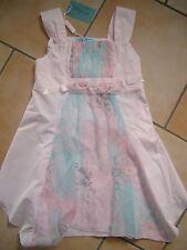 (31) Miss Blumarine Girls Kleid mit Seide & Rosen Besatz & Logo Stickerei gr.116