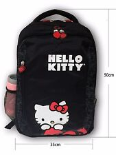 """Hello Kitty Backpack School Back Pack Style 15.4"""" Laptop Bag Black 13620425 NWT"""