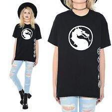 Black MORTAL KOMBAT X Season 2 Finals ESL Pro League Dragon Logo T-Shirt L