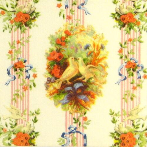 4x serviettes en papier pour découpage DECOPATCH Craft deux colombes
