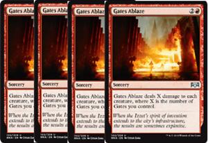 x4 MTG Gates Ablaze Red Ravnica Allegiance NM Losse kaarten