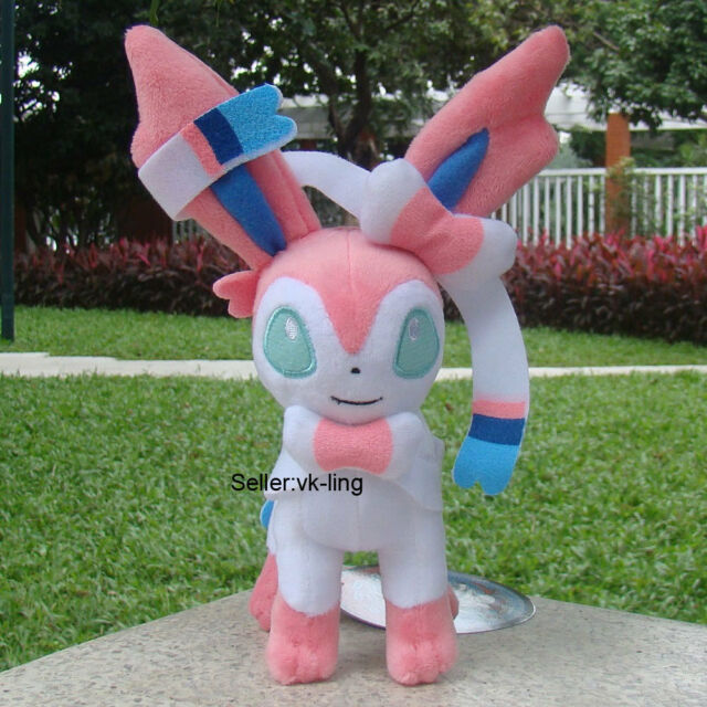 "Pokemon Center Go Sylveon 9"" Nintendo Fairy Eevee Plush Toy Stuffed Animal Doll"
