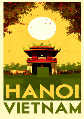 Vietnam Hanoi A3 vintage retro travel /& railways posters #3