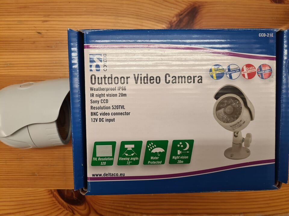Andet, Deltaco analog sæt med 4 kamera, God